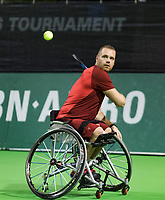 Rotterdam, The Netherlands, 13 Februari 2019, ABNAMRO World Tennis Tournament, Ahoy, first round wheelchair singles, Maikel Scheffers (NED)<br /> Photo: www.tennisimages.com/Henk Koster