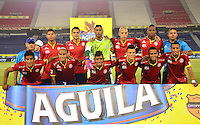 BARRANQUIILLA -COLOMBIA-26-04-2015. Jugadores de Uniauntónoma posan para una foto previo al encuentro con Deportes Tolima por la fecha 17 de la Liga Aguila I 2015 jugado en el estadio Metropolitano de la ciudad de Barranquilla./ Players of Uniautonoma pose to a photo prior the match against Deportes Tolima for the 17th date of the Aguila League I 2015 played at Metropolitano stadium in Barranquilla city.  Photo: VizzorImage/Alfonso Cervantes/Cont