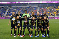 Philadelphia Union starting eleven. The New York Red Bulls defeated the Philadelphia Union  1-0 during a Major League Soccer (MLS) match at Red Bull Arena in Harrison, NJ, on October 20, 2011.