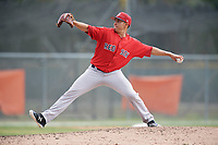 Boston Red Sox pitcher Rio Gomez (74) during a Minor League Spring Training game against the Baltimore Orioles on March 20, 2018 at Buck O'Neil Complex in Sarasota, Florida.  (Mike Janes/Four Seam Images)