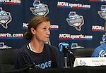 3 December 2005: Head coach Jillian Ellis. The UCLA Bruins held a press conference the day before playing in the NCAA Women's College Cup, the Division I Championship soccer game at Aggie Soccer Stadium in College Station, TX.