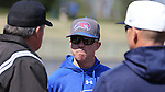 CARY, NC - MARCH 04: UMass Lowell head coach Ken Harring. The University of Massachusetts Lowell River Hawks played the University of Notre Dame Fighting Irish on March 4, 2017, at USA Baseball NTC Stadium Field in Cary, NC in a Division I College Baseball game, and part of the Irish Classic tournament. UMass Lowell won the game 8-0.
