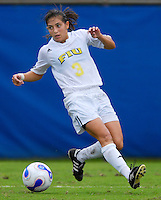 Florida International University Golden Panthers against Stetson at Miami, Florida on Sunday, September 23, 2007.  The Golden Panthers won, 2-1...FIU junior forward Maria Gualdron (Miami, Fla.) (3) drives for the goal in the second half.