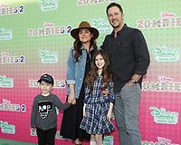 "LOS ANGELES - JAN 25:  Tiffani Thiessen, Brady Smith, Holt Smith, Harper Smith at the ""Zombies 2"" Screening at the Disney Studios on January 25, 2020 in Burbank, CA"