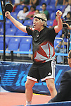 November 15 2011 - Guadalajara, Mexico:  Ian Kent after winning his Gold Medal match at the 2011 Parapan American Games in Guadalajara, Mexico.  Photos: Matthew Murnaghan/Canadian Paralympic Committee