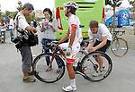 Yukihiro Doi attends the journalist before the stage of La Vuelta 2012 beetwen Santander-Fuente De.September 5,2012. (ALTERPHOTOS/Acero)