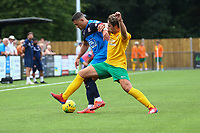 Matt Smart of Hartley Wintney and Lee Harding of Horsham during Horsham vs Hartley Wintney, Friendly Match Football at Hop Oast on 13th July 2019