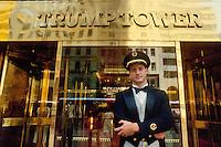 - New York, entrance of Trump Tower....- New York, ingresso della Trump Tower..