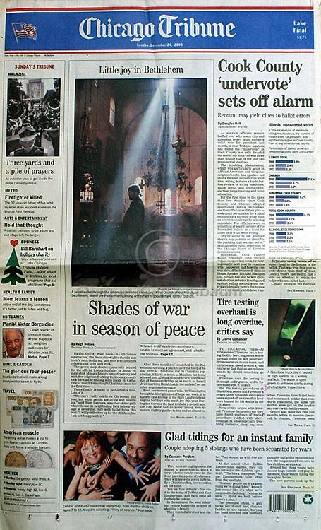 Chicago Tribune, December 24, 2000. Photos © Quique Kierszenbaum