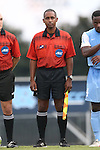 15 August 2014: Assistant referee Raymond Thomas. The University of North Carolina Tar Heels hosted the Gardner-Webb University Bulldogs at Fetzer Field in Chapel Hill, NC in a 2014 NCAA Division I Men's Soccer preseason match. North Carolina won the exhibition 7-0.