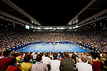 01 Feb 2009, Melbourne, Australia --- XXX during the men's single final of the Australian Open Tennis Grand Slam February 01, 2009 in Melbourne. Photo by Victor Fraile --- Image by © Victor Fraile/Corbis