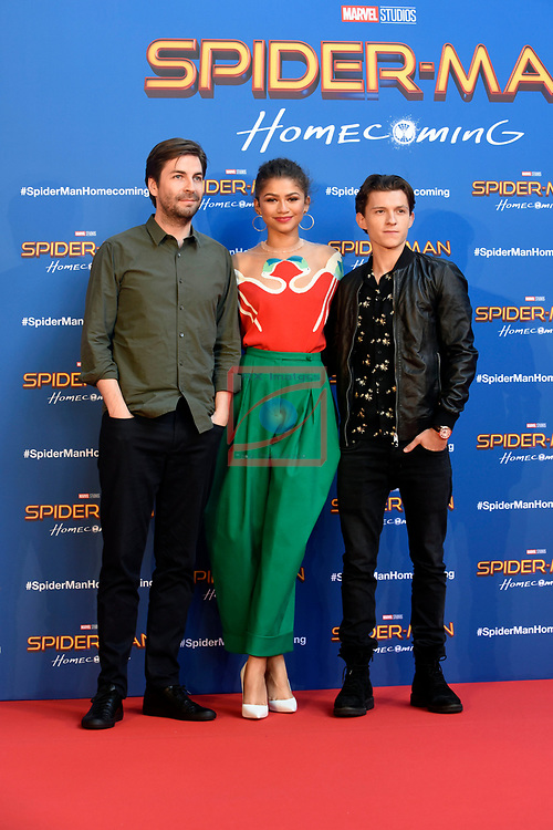 Europe Photo-Calls.<br /> Sipider-man: Homecoming.<br /> Jon Watts, Zendaya &amp; Tom Holland.