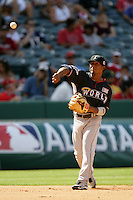 Ozzie Martinez of the Florida Marlins organization participates in the Futures Game at Angel Stadium in Anaheim,California on July 11, 2010. Photo by Larry Goren/Four Seam Images