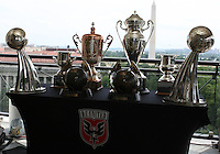 WASHINGTON, DC-JULY 10,2012:  DC United trophies during a D.C. United ownership press conference at the POV Lounge in the W Hotel, Washington, DC.