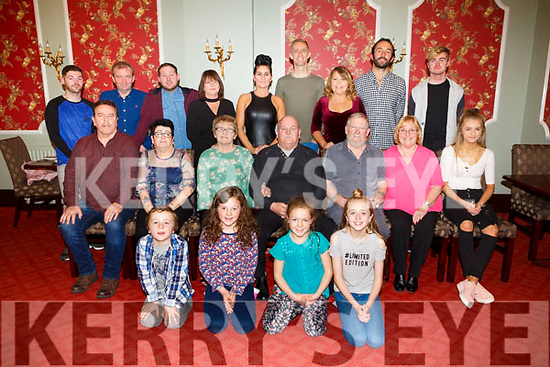Frank Lean, Connolly Park Tralee, celebrates his 70th Birthday with family at the Imperial Hotel on Monday