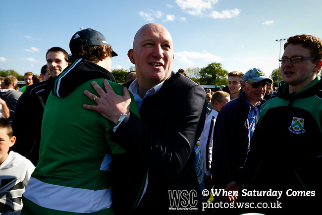 Billy Heath Manager of North Ferriby United. Vanarama National League North, Promotion Final, North Ferriby United v AFC Fylde, 14th May 2016.