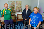 Launching the 10 Miles for 10 day Challenge in memory of Conor Cusack at Pieta House in Tralee on Tuesday. <br /> front right: Michelle Greaney.<br /> Back l to r: Martin O'Sullivan and Con O'Connor of Pieta House.