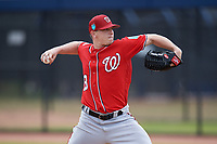 Washington Nationals pitcher Jeremy Hellickson (58) during a Minor League Spring Training game against the Miami Marlins on March 28, 2018 at FITTEAM Ballpark of the Palm Beaches in West Palm Beach, Florida.  (Mike Janes/Four Seam Images)