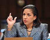 Washington, DC - January 15, 2009 -- Dr. Susan Rice testifies before the United States Senate Foreign Relations Committee confirmation hearing on her nomination as United Nations Ambassador in Washington, D.C. on Thursday, January 15, 2009..Credit: Ron Sachs / CNP.