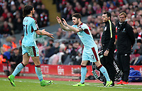 Burnley's Robbie Brady replaces George Boyd<br /> <br /> Photographer Rich Linley/CameraSport<br /> <br /> The Premier League - Liverpool v Burnley - Sunday 12 March 2017 - Anfield - Liverpool<br /> <br /> World Copyright &copy; 2017 CameraSport. All rights reserved. 43 Linden Ave. Countesthorpe. Leicester. England. LE8 5PG - Tel: +44 (0) 116 277 4147 - admin@camerasport.com - www.camerasport.com
