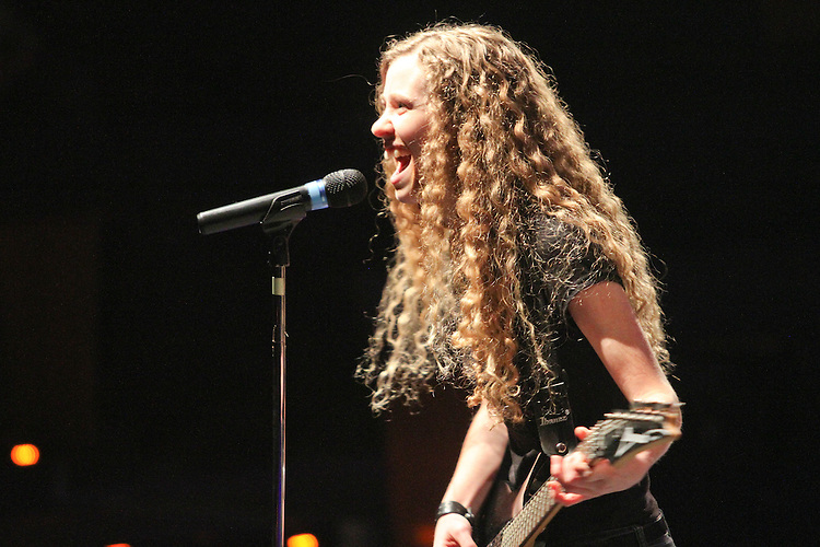Katie Pace as James Hetfield of Metallica