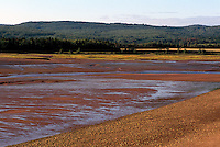 "Bay of Fundy (Minas Basin), Tidal Mud Flats at ""Five Islands"", NS, Nova Scotia, Canada - Atlantic Ocean Coastline - Fundy Shore & Annapolis Valley Region"