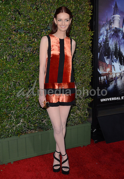 """05 April 2016 - Universal City, California - Lydia Hearst. Arrivals for Universal Studios' """"Wizarding World of Harry Potter Opening"""" held at Universal Studios Hollywood. Photo Credit: Birdie Thompson/AdMedia"""