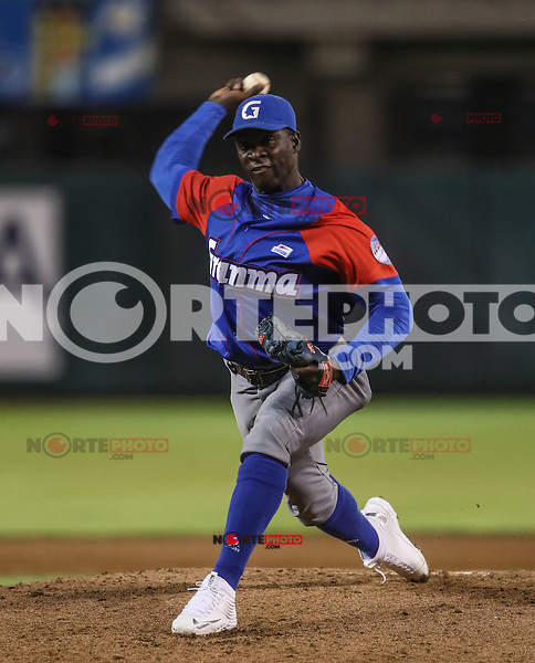 Noelvis Entenzas pitcher inicial de Cuba, durante el partido de beisbol de la Serie del Caribe entre Alazanes de Granma Cuba vs las &Aacute;guilas del Zulia Venezuela en el Nuevo Estadio de los Tomateros en Culiacan, Mexico, Sabado 4 Feb 2017. Foto: Luis Gutierrez/NortePhoto.com.    ****<br /> <br /> Actions, during the Caribbean Series baseball match between Granma Cuba vs Alajuelas de Zulia Venezuela at the New Tomateros Stadium in Culiacan, Mexico, Saturday 4 Feb 2017. Photo: Luis Gutierrez / NortePhoto.com