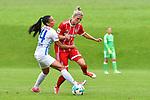 12.08.2017, Sportplatz, Hawangen, GER, FSP, Bayern M&uuml;nchen vs FC Z&uuml;rich Frauen, im Bild Meriame Terchoun  (Zuerich #24), Verena Fai&szlig;t / Faisst (Muenchen #22)<br /> <br /> Foto &copy; nordphoto / Hafner