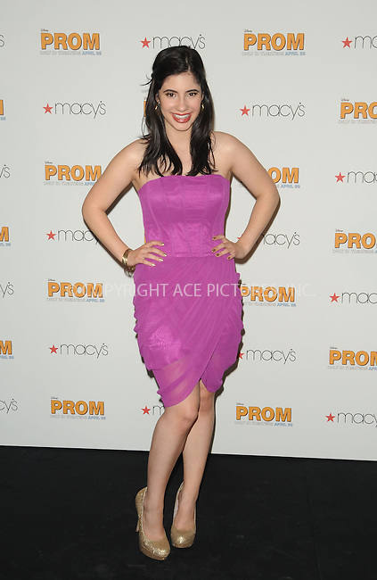 WWW.ACEPIXS.COM . . . . . ....April 22 2011, Los Angeles....Janelle Ortiz from the cast of Walt Disney Pictures' 'Prom,' at Macy's at the Glendale Galleria on April 22, 2001 in Glendale, California....Please byline: PETER WEST - ACEPIXS.COM....Ace Pictures, Inc:  ..(212) 243-8787 or (646) 679 0430..e-mail: picturedesk@acepixs.com..web: http://www.acepixs.com