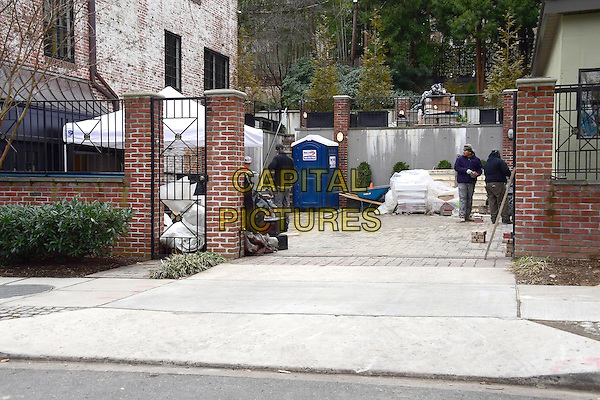 Construction at the home where United States President Barack Obama at 2446 Belmont Road, NW; Washington, DC in the Kalorama neighborhood of Northwest Washington where the President and his family will reside after he leaves office.<br /> 16 Jaunuary 2016<br /> CAP/MPI/RS<br /> &copy;RS/MPI/Capital Pictures
