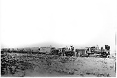 D&amp;RG locomotives #162 and #164 double heading a passenger train south of Antonito, CO.  The train is halted for the photographer with many posers.<br /> D&amp;RG  Antonito, CO  ca 1905