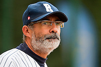 03 october 2009: Team manager of Rouen Francois Colombier is seen during game 1 of the 2009 French Elite Finals won 6-5 by Rouen over Savigny in the 11th inning, at Stade Pierre Rolland stadium in Rouen, France.