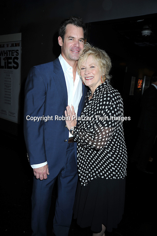 "Tuc Watkins, Betty Buckley at The Opening night of ""White's Lies"" on May 6, 2010 at New World Stages in New York City. The show stars Betty Buckley, Tuc Watkins, Peter Scolari and Christy Carlson Romano."