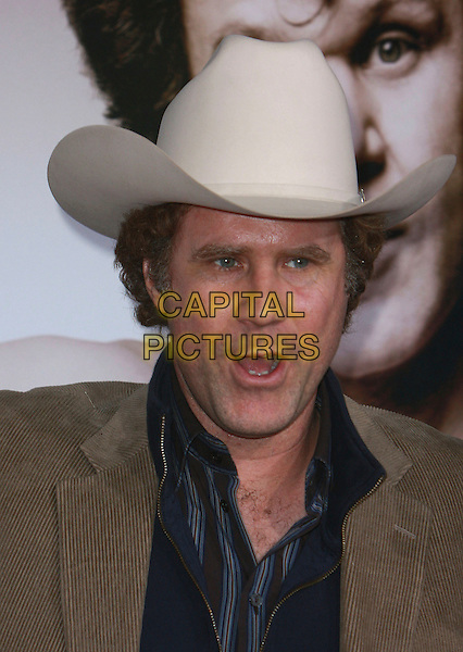 "WILL FERRELL .""Walk Hard: The Dewey Cox Story"" Los Angeles Premiere held at Grauman's Chinese Theatre,  Hollywood, California, USA, 12 December 2007..portrait headshot cowboy hat .CAP/ADM/CH.©Charles Harris/AdMedia/Capital Pictures."