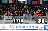 SCHAATSEN: DORDRECHT: Sportboulevard, Korean Air ISU World Cup Finale, 12-02-2012, Publiek, Shorttrack fans, ©foto: Martin de Jong