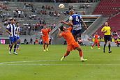 01.08.2015. Cologne, Germany. Pre Season Tournament. Colonia Cup. Valencia CF versus FC Porto.  Brazilian defender and Porto captain, Maicon, is dominant in the air.