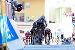 World Champion Peter Sagan (SVK) Bora-Hansgrohe charges for the finish line of Stage 3 of the 2017 Tirreno Adriatico running 204km from Monterotondo Marittimo to Montalto di Castro, Italy. 10th March 2017.<br /> Picture: La Presse/Fabio Ferrari | Cyclefile<br /> <br /> <br /> All photos usage must carry mandatory copyright credit (&copy; Cyclefile | La Presse)
