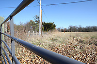 NWA Democrat-Gazette/DAVID GOTTSCHALK A section of property Monday, November 26, 2018, southeast of North 54th Avenue and West Persimmon Street in Fayetteville.The city of Fayetteville is installing solar panels at its two wastewater treatment plants, which account for most of the city's energy usage. The Planning Commission on Monday considered rezoning a patch of land the city owns near the Woolsey Wet Prairie to install the panels for the Westside Wastewater Treatment Plant.