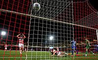 Blackpool's Armand Gnanduillet scores the late winning goal<br /> <br /> Photographer Alex Dodd/CameraSport<br /> <br /> The EFL Sky Bet League One - Doncaster Rovers v Blackpool - Tuesday September 17th 2019 - Keepmoat Stadium - Doncaster<br /> <br /> World Copyright © 2019 CameraSport. All rights reserved. 43 Linden Ave. Countesthorpe. Leicester. England. LE8 5PG - Tel: +44 (0) 116 277 4147 - admin@camerasport.com - www.camerasport.com