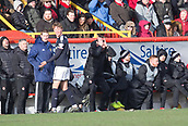 17th March 2018, Pittodrie Stadium, Aberdeen, Scotland; Scottish Premier League football, Aberdeen versus Dundee; Aberdeen manager Derek McInnes despairs at a referees decision