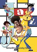 Fabrizio, Comics, CUTE ANIMALS, LUSTIGE TIERE, ANIMALITOS DIVERTIDOS, paintings+++++,ITFZ61,#AC#, EVERYDAY ,Jazz,