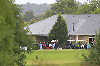 Colm Cassidy (Tullamore) on the 1st tee during the Final round of the Irish Mixed Foursomes Leinster Final at Millicent Golf Club, Clane, Co. Kildare. 06/08/2017<br /> Picture: Golffile | Thos Caffrey<br /> <br /> <br /> All photo usage must carry mandatory copyright credit      (&copy; Golffile | Thos Caffrey)