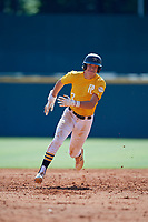 Brock Daniels (2) of St. John Vianney High School in St Louis, MO during the Perfect Game National Showcase at Hoover Metropolitan Stadium on June 18, 2020 in Hoover, Alabama. (Mike Janes/Four Seam Images)