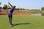 Padraig Harrington tees off on the 18th hole during Day 2 of the Dubai World Championship, Earth Course, Jumeirah Golf Estates, Dubai, 26th November 2010..(Picture Eoin Clarke/www.golffile.ie)
