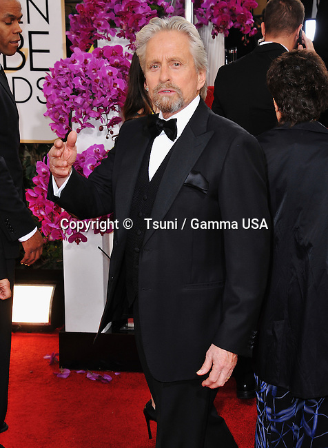 Michel Douglas 133 at the 2014 Golden Globes Awards at the Beverly Hilton in Los Angeles.