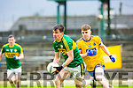 Kerry Brian O Beaglaoich  breaks away from Roscommon Cian Connolly during their NFKL Div 1 clash in Fitzgerald Stadium on Sunday