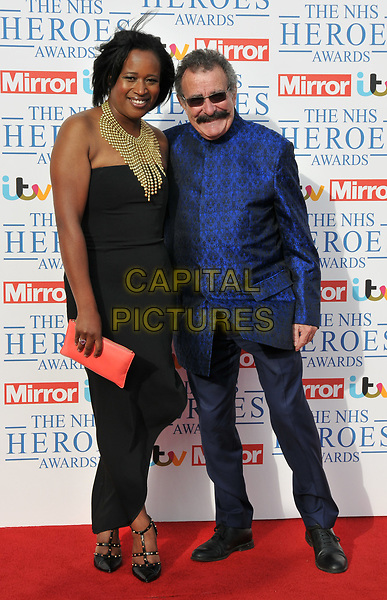 Charlene White and Professor Robert Winston at the NHS Heroes Awards 2018, London Hilton on Park Lane Hotel, Park Lane, London, England, UK, on Monday 14 May 2018.<br /> CAP/CAN<br /> &copy;CAN/Capital Pictures