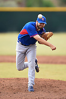 Chicago Cubs pitcher Ryan Williams (49) during an Instructional League intersquad game on October 9, 2014 at Cubs Park Complex in Mesa, Arizona.  (Mike Janes/Four Seam Images)