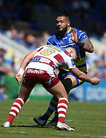 Warrington Wolves' Ben Murdoch-Masila is tackled by Wigan Warriors' George Williams <br /> <br /> Photographer Stephen White/CameraSport<br /> <br /> Rugby League - Coral Challenge Cup Sixth Round - Warrington Wolves v Wigan Warriors - Sunday 12th May 2019 - Halliwell Jones Stadium - Warrington<br /> <br /> World Copyright © 2019 CameraSport. All rights reserved. 43 Linden Ave. Countesthorpe. Leicester. England. LE8 5PG - Tel: +44 (0) 116 277 4147 - admin@camerasport.com - www.camerasport.com